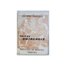 CURS DE CHIRURGIE de PETRU RADULESCU , 1975 , DEDICATIE*