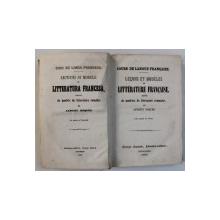 CURS DE LIMBA FRANCESA  - LECTIUNI SI MODELE DE LITTERATURA FRANCESA , URMATE DE MODELE DE LITTERATURA ROMANA de ANTONI ROQUES , 1860