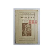 CURS  DE MUZICA PENTRU CLASA VI-A SECUNDARA ( MUZICA MODERNA ) de LIVIA TEODORESCU , 1935 , PREZINTA SUBLINIERI CU CREION COLORAT ROSU *