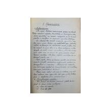 CURS DE PISCICULTURA IN APELE DE MUNTE de VASILE COTTA, 1945
