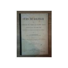 CURS DE SOLFEGII SI CORURI PE TREI SI PATRU VOCI PENTRU CLASA V DE AMBE SEXE... de C.G. GHIMPETEANU, EDITIA A II A, BUC. 1915