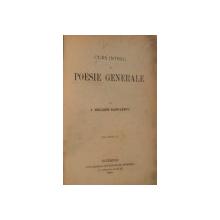 CURS INTREG DE POESIE GENERALA de I. HELIADE RADULESCU , VOL II , 1870 , DEDICATIE*