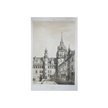 Curtea interioara a castelului Kronenbourg a Elseneur, 9 Noiembrie 1839 - Litografie
