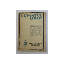 CUVANTUL LIBER , ANUL II , SERIA II , NR. 2 , 10 IANUARIE 1925