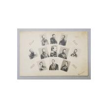 CUZA VODA 1859 - 1866 ,  11 FOTOGRAFII , MONTAJ - FOTO , CARTE POSTALA ILUSTRATA , CLASICA