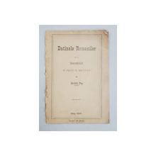 Datinele Romanilor de la inmormantari in raport cu ale noastre de Gavrilu Pop - Blaj, 1900