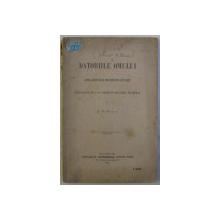 DATORIILE OMULUI - OPERA ADOPTATA DE UNIVERSITATEA DIN PARIS . tradusa de P. M. GEORGESCU , 1892