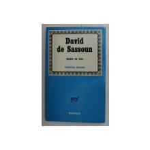 DAVID DE SASSOUN - EPOPEE EN VERS , COLLECTION CAUCASE , 1964