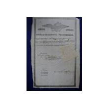 Davidesti jud. Muscel, Departamentul Vistieriei Patent negustor Enache Popa Sandu 1846