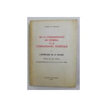 DE LA CONNAISSANCE EN GENERAL A LA CONNAISSANCE ESTHETIQUE - L 'ESTHETIQUE DE LA NATURE par AMORIM DE CARVALHO , 1973