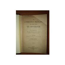 DE L'INFLUENCE  FRANCAISE SUR L'ESPRIT PUBLIC  EN ROUMANIE de POMPILIU ELIADE  -  PARIS 1898