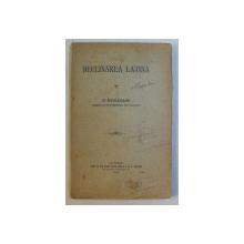 DECLINAREA LATINA de D. EVOLCEANU , 1905