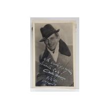 DEDICATIA ARTISTULUI CARLOS MORENO , FOTOGRAFIE TIP CARTE POSTALA , 1937