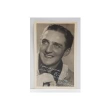 DEDICATIA ARTISTULUI CARLOS MORENO , FOTOGRAFIE TIP CARTE POSTALA , 7.07.1937