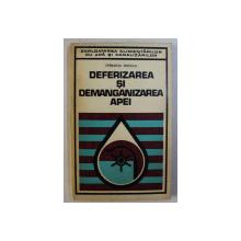 DEFERIZAREA SI DEMANGANIZAREA APEI de SPERANTA NITESCU , 1977