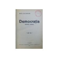 DEMOCRATIA  - REVISTA LUNARA , CUPRINDE ANII 1924 - 1925 , DE LA 1 IANUARIE 1924 LA  NOIEMBRIE - DECEMBRIE 1925