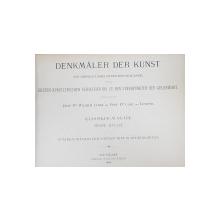 DENKMALER DER KUNST von WILHELM LUBKE und CARL LUTZOW - STUTTGART, 1884
