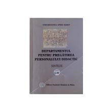 DEPARTAMENTUL PENTRU PREGATIREA PERSONALULUI DIDACTIC  - SINTEZE ANII I - IV de STEFAN COSTEA ...NADIA FLOREA , 2003