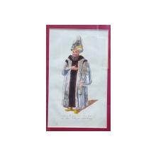 Der Capudan / Bascha in der Staats - Kleidung, Gravura colorata, inceput de secol 19