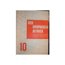 DER GRAPHISCHE BETRIEB ,1933-1934