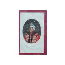 Der Grofsherr - Gravura colorata, inceput de secol 19