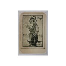 ' DER RAUCHER ' - FUMATORUL , CARICATURA de C. STRATHMANN , CARTE POSTALA ILUSTRATA , CLASICA