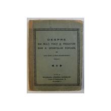 DESPRE MAI MULTI POETI SI PROZATORI MARI AI DIFERITELOR POPOARE , VOLUMUL I de LENA ZAMFIR si ELENA CONSTANTINESCU , 1934
