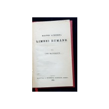 DESPRE SCRIEREA LIMBEI ROMANE de TITU MAIORESCU - IASI, 1866