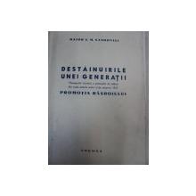 DESTAINUIRILE UNEI GENERATII-MONOGRAFIA ISTORICA A PROMOTIEI DE OFITERI DIN TOATE ARMELE ACTIVI SI DE REZERVA  1917- MAIOR C.M. SANDOVICI