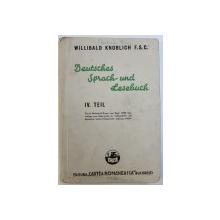 DEUTSCHES SPRACH  - UND LESEBUCH   IV.  TEIL von WILLIBALD KNOBLICH , 1940