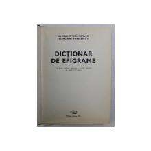 DICTIONAR DE EPIGRAME de MIRCEA TRIFU , 1981 *DEDICATIE
