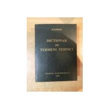 DICTIONAR DE TERMENI TEHNICI de D.N. PREDA  1999