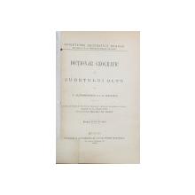 Dictionar geografic al judetului Oltu - C.Alessandrescu si I.G.Sfintescu   -BUC.1895