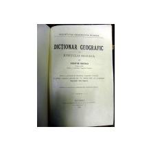Dictionar geografic al Judetului Suceava  -   Serafim Ionescu    Buc.1894