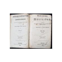 DICTIONAR GERMAN-ROMAN de GEORGE BARITIU si GABRIEL MUNTEANU, 2 vol. - BRASOV, 1853