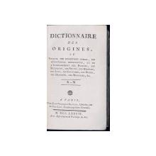 DICTIONNAIRE DES ORIGINES, OU EPOQUES DES INVENTIONS UTILES, VOL. IV par JEAN-FRANCOIS BASTIEN - PARIS, 1777