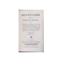 DICTIONARES DES ORIGINES, OU EPOQUES DES INVENTIONS UTILES, VOL. V par JEAN-FRANCOIS BASTIEN - PARIS, 1777