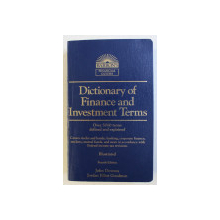 DICTIONARY OF FINANCE AND INVESTMENT TERMS , FOURTH EDITION by JOHN DOWNES , JORDAN ELLIOT GOODMAN , 1995