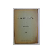 DIFERITE CUVANTARI de S. G. LONGINESCU , 1930