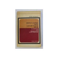 DIFICULTATI ALE LEXICULUI RUS - ELEMENTE DE SEMNATICA CONTRASTIVA de VICTOR VASCENCO , 1975 , DEDICATIE*