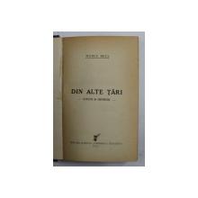 DIN ALTE TARI - STUDII SI IMPRESII de MARCU BEZA , 1933
