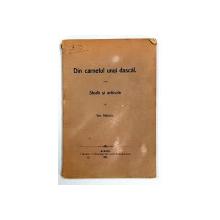 Din carnetul unui dascal, Studii si articole de Ion Mateiu - Sibiu, 1912*Dedicatie