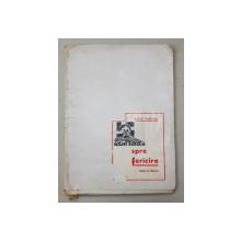 DIN IAD SPRE FERICIRE  - ROMAN IN DESENE  de KELETI LADISLAS , EDITIE DE LUX , NUMARUL 60 , CONTINE 29 DE  DESENE  PE FILE VOLANTE , 1946 , CONTINE DEDICATIA AUTORULUI *