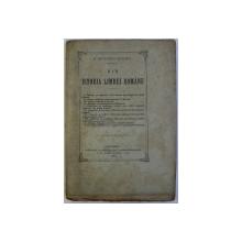 DIN ISTORIA LIMBEI ROMANE de B . PETRICEICU - HASDEU , 1883