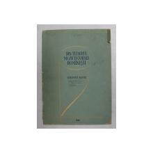 DIN TEZAURUL MUZICII CORALE ROMANESTI - CANTECE ALESE , culegere alcatuita de V. PINTEA , 1958