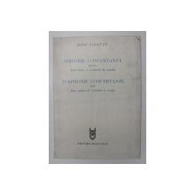 DINU LIPATTI - SIMFONIE CONCERTANTA PENTRU DOUA PIANE SI ORCHESTRA DE COARDE , PARTIRURA , EDITIE IN ROMANA SI FRANCEZA , 1984