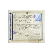 Diploma de absolvire a cursului superior liceal, 1929