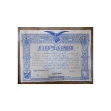 Diploma de Artist Cartograf, Moldoveanu Traian, promotia 1931