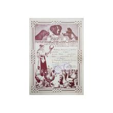 Diploma premiul I la Expozitia Nationala Canina, Bucuresti, 1938