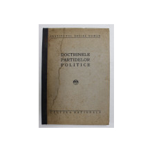 DOCTRINELE PARTIDELOR POLITICE - D.GUSTI. N. IORGA